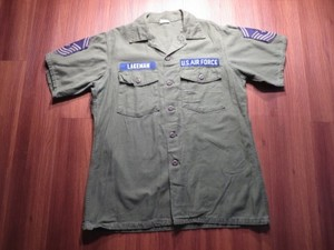 U.S.AIR FORCE Shirt Coton 1967年 size16 1/2 used