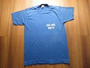 "U.S.NAVY T-Shirt ""USS HOEL DDG-13"" sizeM used"