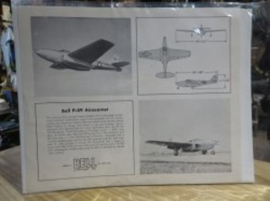 """U.S. Leaflet? """"Bell P-59 AIRACOMET"""" 1960年代頃?"""