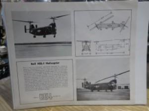 "U.S. Leaflet? ""Bell HSL-1 HELICOPTER"" 1960年代頃?"