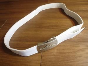 U.S.NAVY Belt White with Buckel 100cm used
