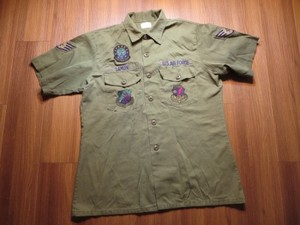 U.S.AIR FORCE Utility Shirt 1985年 size16 1/2 used