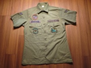 U.S.AIR FORCE Utility Shirt 1982年 size15 1/2 used