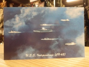 "U.S.NAVY Post Card ""USS INDEPENDENCE CV-62"""