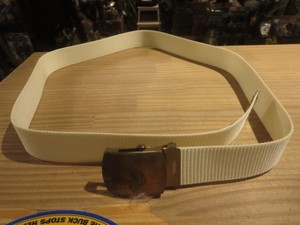 U.S.NAVY Web Belt White 約110cm used