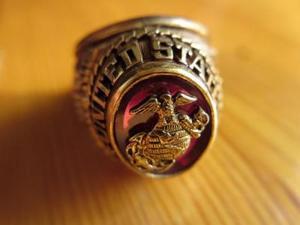 U.S.MARINE CORPS Ring size16 used