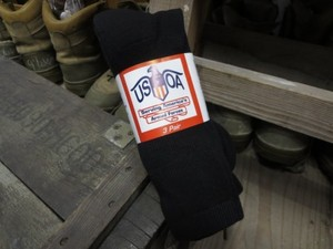 U.S.Socks Black sizeM 3pairs new