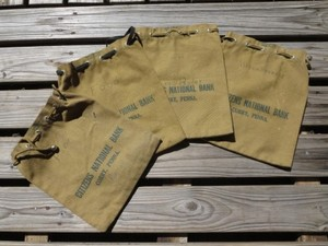 """U.S.Cloth Bag""""CITIZENS NATIONAL BANK""""used 1each"""