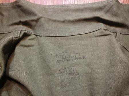 U.S.ARMY Jacket(Shirt) Cotton 1953年 sizeS used