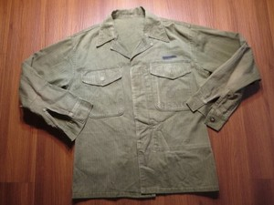 U.S.MARINE CORPS HBT Fatigue Jacket 1950年代 sizeS?