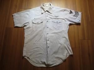U.S.NAVY Shirt Chambray Utility sizeM/L used