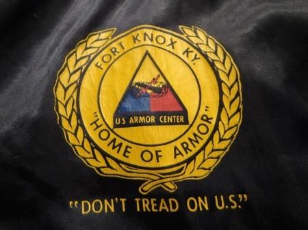 "U.S.ARMY Nylon Jacket ""FORT KNOX,KY"" sizeS used"