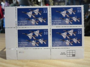 "U.S.AIR FORCE Stamps ""50th Anniversary"" 1997年 new"