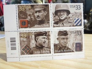 "U.S.ARMY Stamps ""Distinguished Soldiers"" 2000年 new"