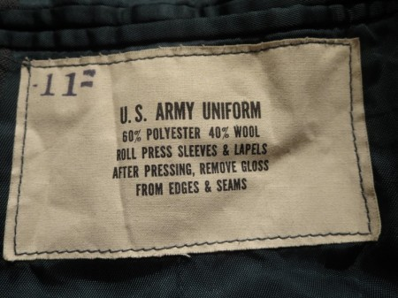 U.S.ARMY Coat ARMY GREEN 1968年 size39R used