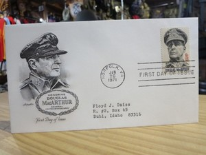 "U.S.Envelope ""General Douglas MacArthur"" 1971年"