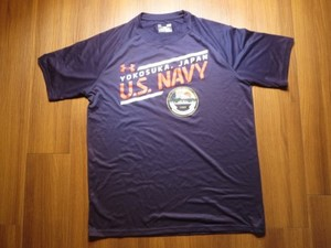 "U.S.NAVY T-Shirt PhysicalTraining ""YOKOSUKA"" sizeL"