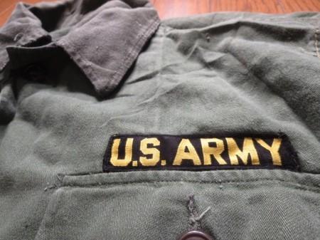 U.S.ARMY Jacket Utility Cotton 1950年代 sizeS used