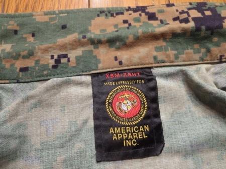 U.S.MARINE CORPS Blouse MCCUU WoodLand sizeXS used