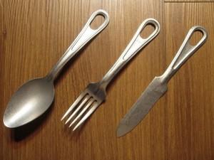 "U.S. Cutlery Set ""Fork&Spoon&Knife"" 2000年代 new"