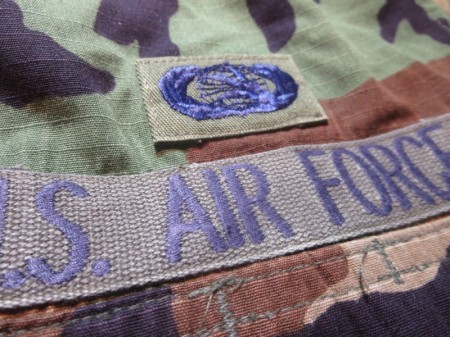 U.S.AIR FORCE Coat Combat WoodLand 2003年 sizeS-R