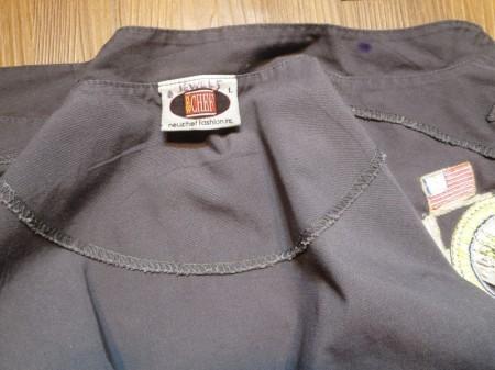 "U.S.NAVY Cook Shirt ""USS CURTIS WILBUR"" sizeL used"