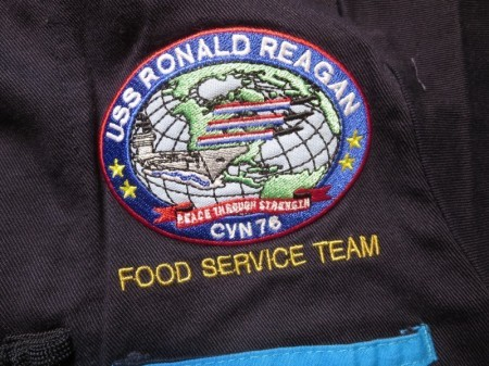 """U.S.NAVY CookShirt """"USS RONALD REAGAN"""" sizeS"""
