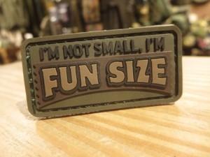 "U.S.Funny Patch ""FUN SIZE"" used"