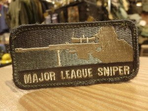 "U.S.Funny Patch ""MAJOR LEAGUE SNIPER"""