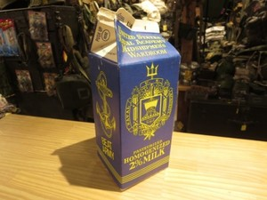 U.S.NAVAL ACADEMY Wardroom Milk Bottle used