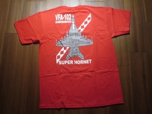 "U.S.NAVY T-Shirt ""VFA-102 DIAMONDBACKS"" sizeL new"