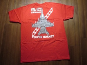 "U.S.NAVY T-Shirt ""VFA-102 DIAMONDBACKS"" sizeM new"