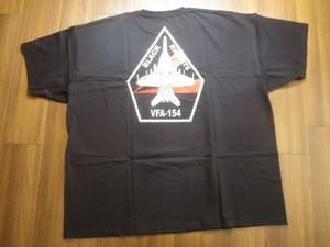 """U.S.NAVY T-Shirt""""VFA-154 BLACK KNIGHTS""""size3XL new"""