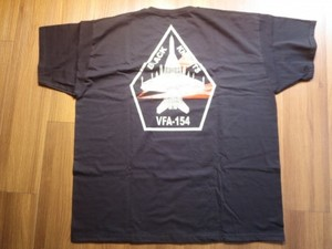 "U.S.NAVY T-Shirt""VFA-154 BLACK KNIGHTS""sizeXXL new"