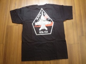 "U.S.NAVY T-Shirt""VFA-154 BLACK KNIGHTS""sizeL new"