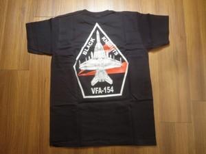 """U.S.NAVY T-Shirt""""VFA-154 BLACK KNIGHTS""""sizeS new"""