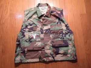 "U.S.NAVY Vest (mod) ""SEABEES"" 1980年代 sizeM used"
