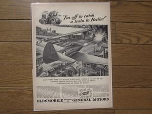 "U.S.Life誌 AD ""OLDSMOBILE"" 1940年代 (切り抜き実物です)"