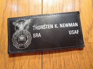 "U.S.AIR FORCE Name Plate ""SECURITY POLICE"" used"