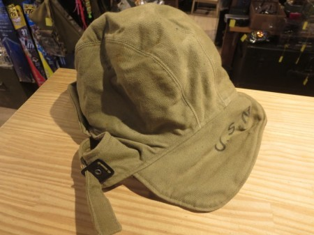 U.S.NAVY Cap for Cold Weather 1940年代 size7 1/4used