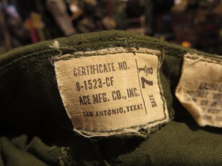 U.S.ARMY Cap Hot Weather 1960年代? size7 1/8 used