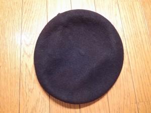 U.S.ARMY Beret Wool Black size7 1/2 new
