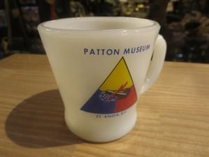 """U.S.FireKing Mug """"PATTON MUSEUM"""" 1960-70年頃 used"""