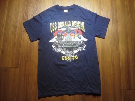 "U.S.NAVY T-Shirt ""USS RONALD REAGAN CVN-76"" sizeS"