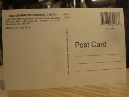 "U.S.NAVY Post Card ""USS GEORGE WASHINGTON CVN-73"""