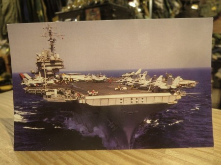 "U.S.NAVY Post Card ""USS KITTY HAWK CV-63"""