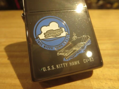 "U.S.NAVY Zippo ""USS KITTY HAWK CV-63"" 1998年 new"