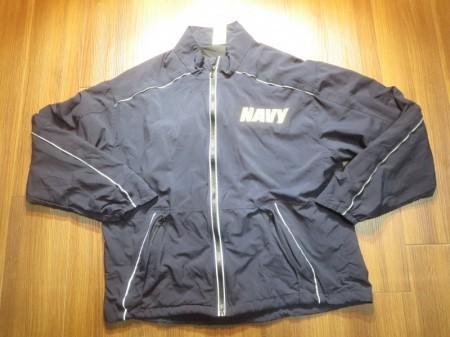 U.S.NAVY Jacket Running? Athletic sizeM-Short used