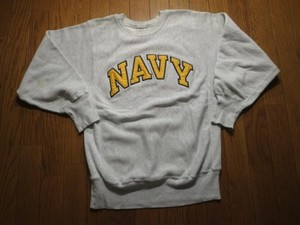 "U.S.NAVY Sweat ""REVERSE WEAVE"" sizeM used"