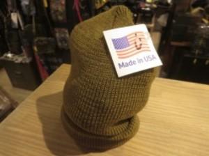 U.S.Watch Cap 100% Wool Brown new